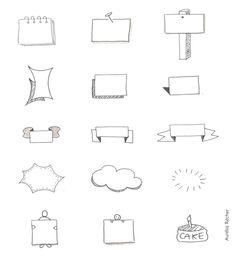 exemples de cadres pour réaliser des sketchnotes