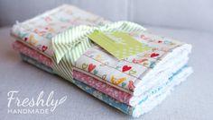 Freshly Handmade: Burp Cloths for Baby Evelyn