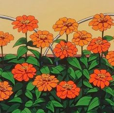 As far as patterns, love the bold colors and mid mod shapes of these flowers Orange Aesthetic, Aesthetic Art, Aesthetic Pictures, Aesthetic Anime, Aesthetic Beauty, Photo Wall Collage, Picture Wall, Collage Art, Camelia Rosa
