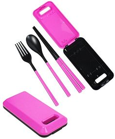 JAVOedge Foldable Compact Travel Utensil Set with Spoon, Fork, Chopstick - READ MORE @ http://www.buyoutdoorgadgets.com/javoedge-foldable-compact-travel-utensil-set-with-spoon-fork-chopstick/?a=9013