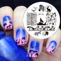 $1.99 Zebra Wolf Animal Patterns Nail Art Stamp Template Image Plate BORN PRETTY 16 - BornPrettyStore.com