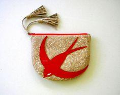 Quatrefoil patrón cuero blanco cisne bolsa bolso por VaVaRa en Etsy