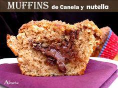 Muffins de canela y nutella