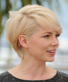 les tendances chez les coupes de cheveux femme, modele coupe courte cheveux blonds