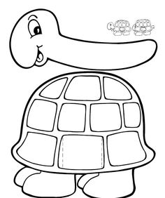 Tt - turtle: Turtle pattern that could be used for the painted ...