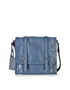 573e29262554 The Bridge Light Blue Leather Messenger Bag