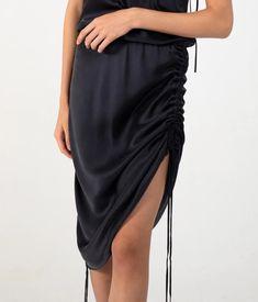 in black sandwashed silk Perfect Wardrobe, Criss Cross, Wardrobe Staples, Wrap Dress, Blazer, Silk, How To Wear, Collection, Color
