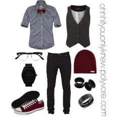 bow tie shirt and beanie. this is what i want to go for on my grade promot. bow tie shirt an Butch Fashion, Queer Fashion, Androgynous Fashion, Tomboy Fashion, Mens Fashion, Fashion Outfits, Androgyny, Fashion Clothes, Lesbian Outfits