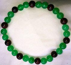 Blutstein Smaragd Heilstein Perlen Armband