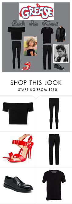 """""""Grease"""" by alindsey2021 on Polyvore featuring Alice + Olivia, Donna Karan, Christian Louboutin, Acne Studios, Dolce&Gabbana and Topman"""