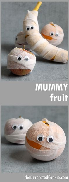 Healthy Halloween treat idea! MUMMY FRUIT!