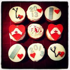 Nursing school grad cupcakes!