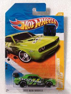 2011 HOT WHEELS FACTORY SEAL NEW MODELS DODGE CHALLENGER DRIFT GREEN Custom Hot Wheels, Hot Wheels Cars, Weird Cars, Cool Cars, Toys Land, Life Car, Matchbox Cars, Dodge Challenger, Mopar