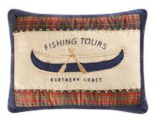 "Northern Coast Fishing Tours Canoe Pillow 12"" x 16"""