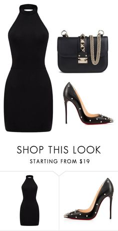 """BussinesWoman Style"" by c-abrjolemmy ❤ liked on Polyvore featuring Christian Louboutin and Valentino"