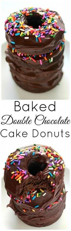 Baked Double Chocolate Cake Donuts - Ready in just 20 minutes!!!