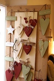 Make bunting out of hearts in these colours