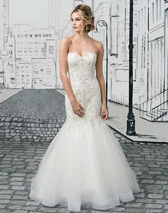7647b28fea Justin Alexander wedding dresses style 8896 A geometric crystal beaded  bodice continues to the start of the full tulle mermaid skirt with  horsehair hem to ...