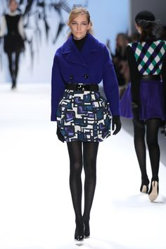 obsessed with the square pattern of Milly's fall 2012 collection