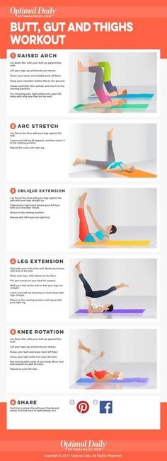 The Ultimate Butt, Gut and Thighs Workout (Without Squats).The Ultimate Butt, Gut and Thigh diet workout thigh exercises Fitness Workouts, Lower Ab Workouts, Sport Fitness, Butt Workout, Fitness Diet, Yoga Fitness, At Home Workouts, Health Fitness, Squats Fitness