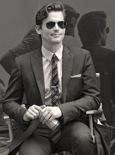 Matt Bomer goes for classic Ray-Bans.