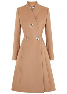 Stella McCartney flared wool coat