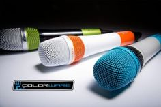 ColorWare offers custom Sennheiser microphones- ColorWare's most recent collaboration would be to work alongside Sennheiser, offering users the option to create colorful, custom painted microphones in order to suit your style. These microphones that will be colored are the Sennheiser ew 135 G3 vocal set that will comprise of a professional grade handheld wireless transmitter and wireless receiver. | #Microphones #Sennheiser #Gadgets #Colorware |