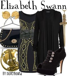 Disneybound - Elizabeth Swann (Pirates of the Caribbean) outfit