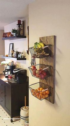 Kitchen Remodel On A Budget 10 Creative DIY Fruit Storage Ideas for Better Kitchen Organization Budget Kitchen Remodel, Kitchen On A Budget, Home Decor Kitchen, New Kitchen, Kitchen Remodeling, 10x10 Kitchen, Smart Kitchen, Awesome Kitchen, Beautiful Kitchen