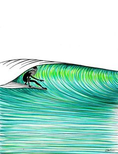 surf illustration – Page 6 Art Surf, Surf Drawing, Ocean Drawing, Posca Art, Surfboard Art, Surfboard Drawing, Wave Art, Art Sculpture, Poster S