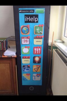 iHelp takenbord Als dagplanning op het bord maken Classroom Organisation, Teacher Organization, A Classroom, Classroom Design, Teach Like A Champion, Co Teaching, 21st Century Skills, Teacher Inspiration, Avengers