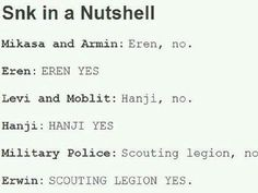Eren, Hanji, and Erwin - propelling that plot forward.