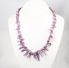Rare Lavender Branch Coral Necklace with Sterling Clasp