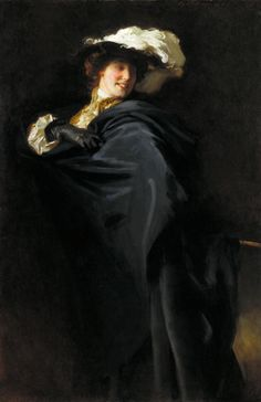 'Portrait of Ena Wertheimer: A Vele Gonfie', 1905 by John Singer Sargent (American, Classic Paintings, Beautiful Paintings, Sargent Art, Beaux Arts Paris, Giovanni Boldini, Chef D Oeuvre, Chiaroscuro, Art Uk, Famous Artists
