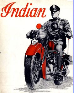 Indian police motorcycle ad