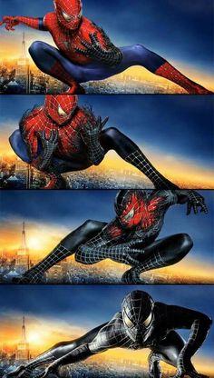 Spider-Man Spiderman 2002, Black Spiderman, Spiderman Movie, Spiderman Spider, Amazing Spiderman, Marvel Comics, Marvel Art, Marvel Heroes, Marvel Avengers