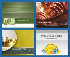 Coins / Bank / Savings / Allowance background #free powerpoint templates #powerpoint templates #templates powerpoint