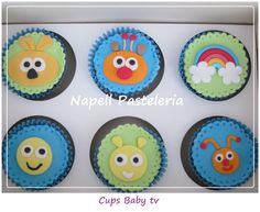 Cupcakes Baby tv Baby Tv Cake, 1st Bday Cake, Cupcakes, Cake Ideas, Birthday, Sweet, Inspiration, Meet, Projects