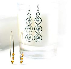 Chain maille and wire earrings - Making Jewellery
