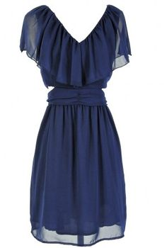 Navy Dress  - not sure about the overlay being so big up top, but love the bottom