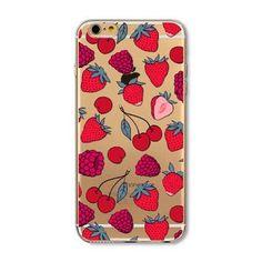 Phone Case Cover For iPhone 4 4S 5 5S SE 5C 6 6S 6Plus 6sPlus Fruit Pineapple Lemon Banana Orange Pattern Fundas Capa Para Bag
