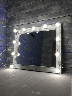 Купить Гримерное зеркало NEWTON - чёрно-белый, зеркало, гримерное зеркало, застаренное зеркало