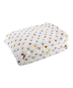Take a look at this Gray & Yellow Polka Dot Jacquard Stroller Blanket by Tadpoles on #zulily today!