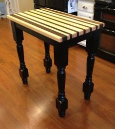 Blog Post: Contrast Kitchen Island Piece Using Osborne Concord Legs. Loving the Contrasting Wood Design! #KitchenIsland