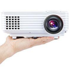 DBPOWER Portable 800*480 Mini Vidéoprojecteur LED Projecteur