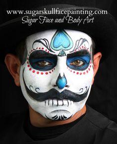 Image result for sugar skull face paint Sugar Skull Face Paint, Sugar Skulls, Candy Skull Makeup, Halloween Make Up, Halloween Face, Festival Makeup Glitter, Face Paint Makeup, Dead Makeup, Male Makeup