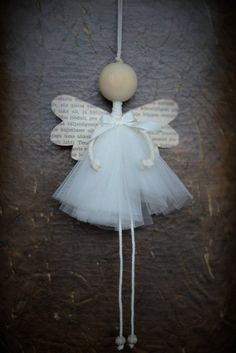Angel Romantic Christmas Decoration Wooden Handmade Ornament Christmas for you – Christmas – Noel 2020 ideas Christmas Angel Crafts, Diy Christmas Ornaments, Diy And Crafts, Christmas Crafts, Crafts For Kids, Felt Christmas, Christmas Wishes, Merry Christmas, Handmade Ornaments