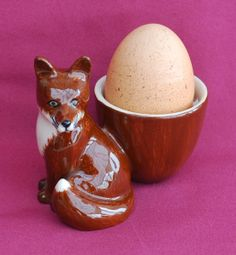 Fox egg cup - The English Owl Company