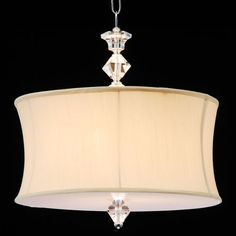 @Overstock - The bottom diffuser and the lamp shade are packaged in the same box, but are not attached.http://www.overstock.com/Home-Garden/Crystal-and-Acrylic-Swag-Plug-in-Chandelier/4585273/product.html?CID=214117 $109.99