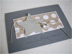 Carolas Bastelstübchen: Y el resto . Stamped Christmas Cards, Stampin Up Christmas, Christmas Cards To Make, Christmas Tag, Holiday Cards, Christmas Crafts, Paper Cards, Diy Cards, Karten Diy